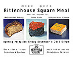 Mike Geno solo exhibition Rittenhouse Square Meal, Philadelphia 2013