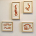 framed bacon drawings by mike geno
