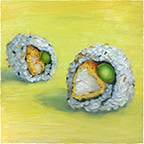 Sushi Paintings by Mike Geno